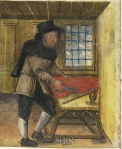 Tailor from the Nürnberger Zwölfbrüderstiftung manuscript, c. 1601