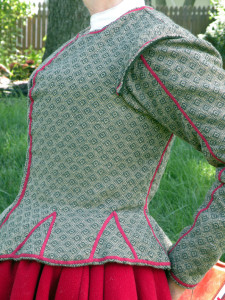 When sewn in correctly, lacing rings are invisible. At a distance,it can almost look like another seamline.